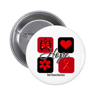 Heart Disease Love Inspire Awareness Pinback Buttons