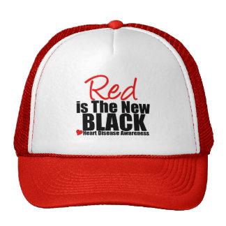 Heart Disease Red is The New Black Trucker Hat