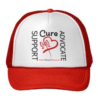 Heart Disease Support Advocate Cure Trucker Hats