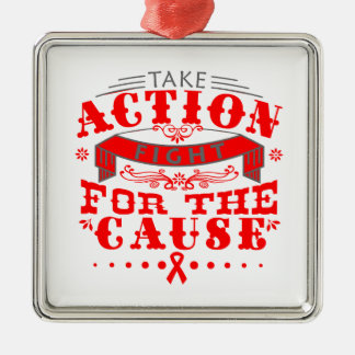Heart Disease Take Action Fight For The Cause Christmas Ornament