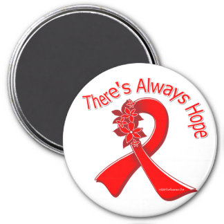 Heart Disease There's Always Hope Floral 7.5 Cm Round Magnet