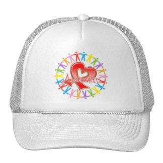 Heart Disease Unite in Awareness Mesh Hats