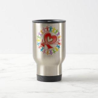 Heart Disease Unite in Awareness Coffee Mugs