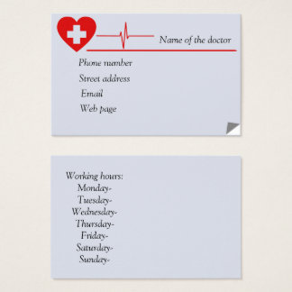 Heart doctor business cards 8.5 cm x 5.5cm