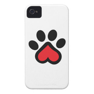 HEART DOG PAW iPhone 4 COVERS