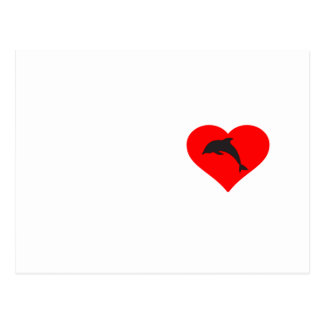 Heart Dolphin Postcard
