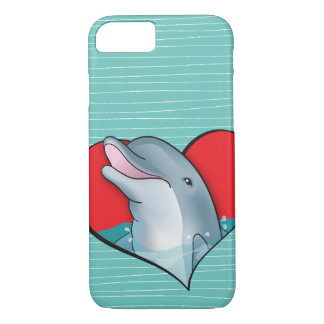 Heart Dolphins iPhone 7 Case
