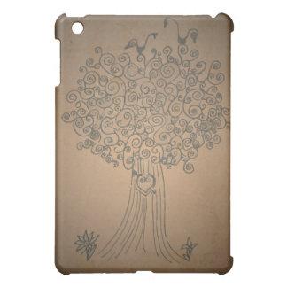Heart Doodle Tree iPad Mini Cover