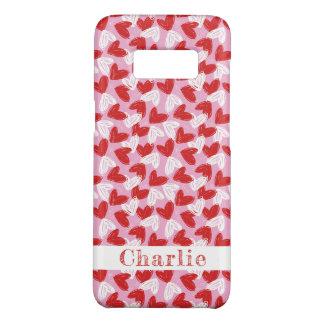 Heart Doodles custom name phone cases