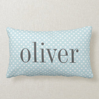 Heart Dot Pattern Nursery Personalized Pillow