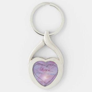 Heart drawn in Snow Keychain