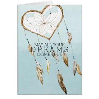 Heart Dream Catcher Card