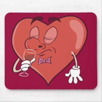 Heart Drinking Wine Mouse Pad