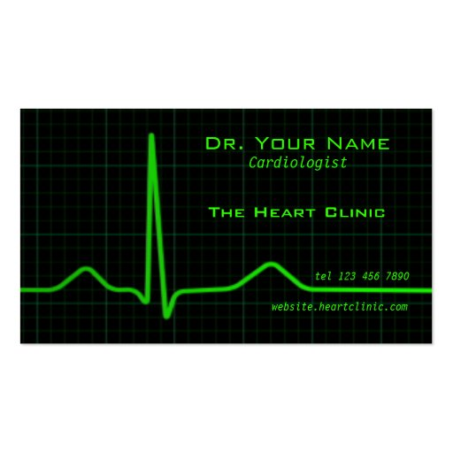 Heart ecg Business Card