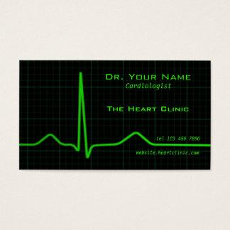 Heart ecg Business Card