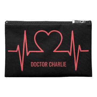 Heart EKG custom name & occupation accessory bags