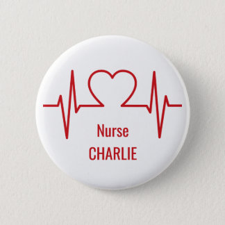 Heart EKG custom name & occupation buttons