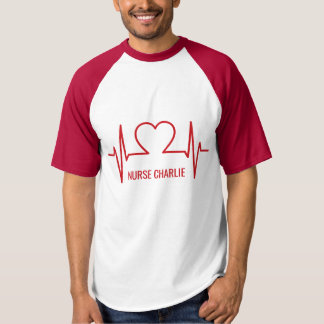 Heart EKG custom name & occupation clothing T-Shirt