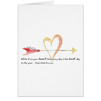 Heart Emerson Quote Card
