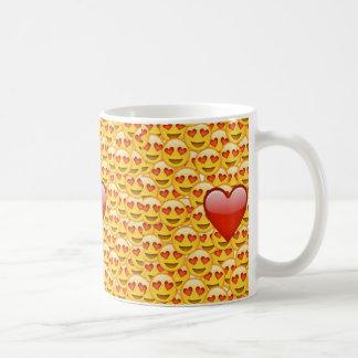 Heart emoji coffee mug