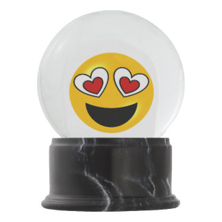 Heart Emoji Snow Globe