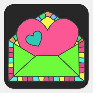 Heart Envelope Sticker - SRF