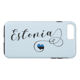 Heart Estonia Mobile Phone Case, Estonian iPhone 8 Plus/7 Plus Case