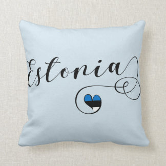Heart Estonia Pillow, Estonian Flag Cushion