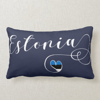 Heart Estonia Pillow, Estonian Flag Lumbar Cushion