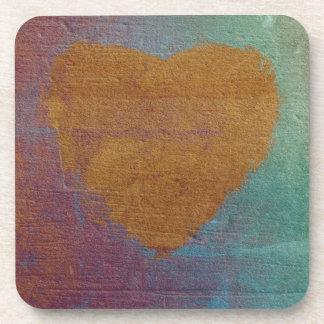 Heart Expression Art Coaster Set