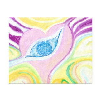 heart eye abstract art slim depth canvas canvas print