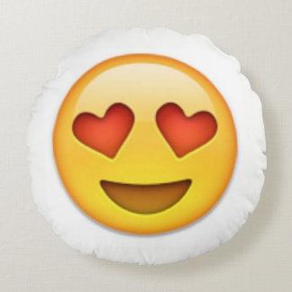 Heart Eye Emoji Pillow