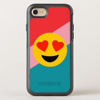 Heart Eyed Emoji On Stripes iPhone Case