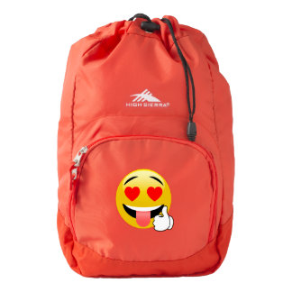 Heart Eyes Love Emoji Red Backpack