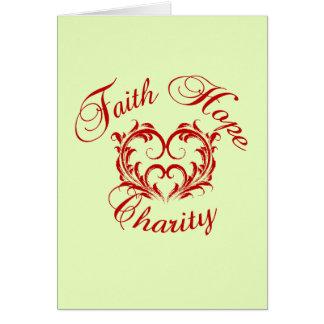 Heart - Faith Hope Charity Card