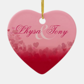 Heart Festival Valentine Love Newlyweds Couples Ceramic Heart Decoration