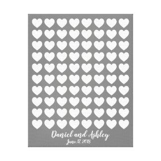 Heart Fingerprint Wedding Guest Book