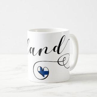 Heart Finland Mug, Finn, Finnish Coffee Mug