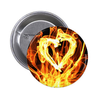 Heart Fire 6 Cm Round Badge