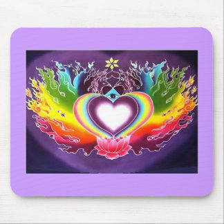 HEART FIRE MOUSE PAD