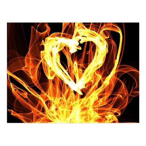 Heart Fire Postcards