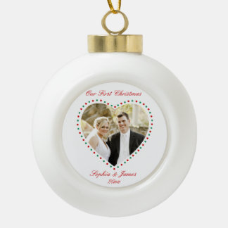 Heart First Christmas Together Ornament Ball