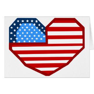 Heart flag blank card