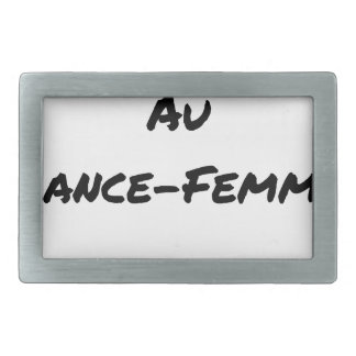 HEART FLARING WITH the LANCE-FEMME - Word games Rectangular Belt Buckle