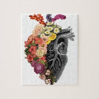 Heart Flower Hugs Jigsaw Puzzle