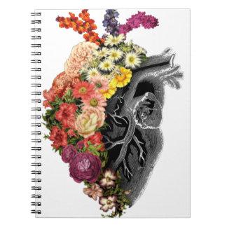Heart Flower Hugs Notebook