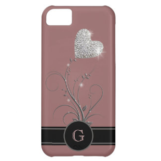 heart flower to add name initial iPhone 5C case