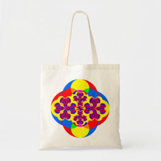 Heart Flowers Budget Tote Tote Bags