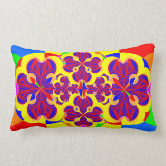 Heart Flowers by Kenneth Yoncich Lumbar Pillow