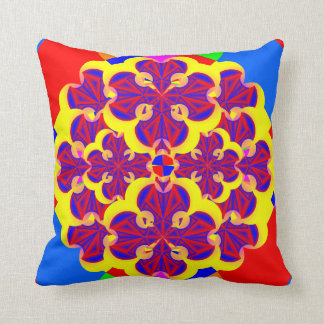 Heart Flowers by Kenneth Yoncich Throw Pillow